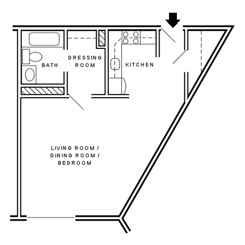 Efficiency Apartment Floor Plan floor plans   gloria dei retirement communities